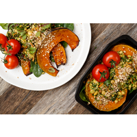 Vegan Roast Pumpkin & Chickpea Tabouli Bowl